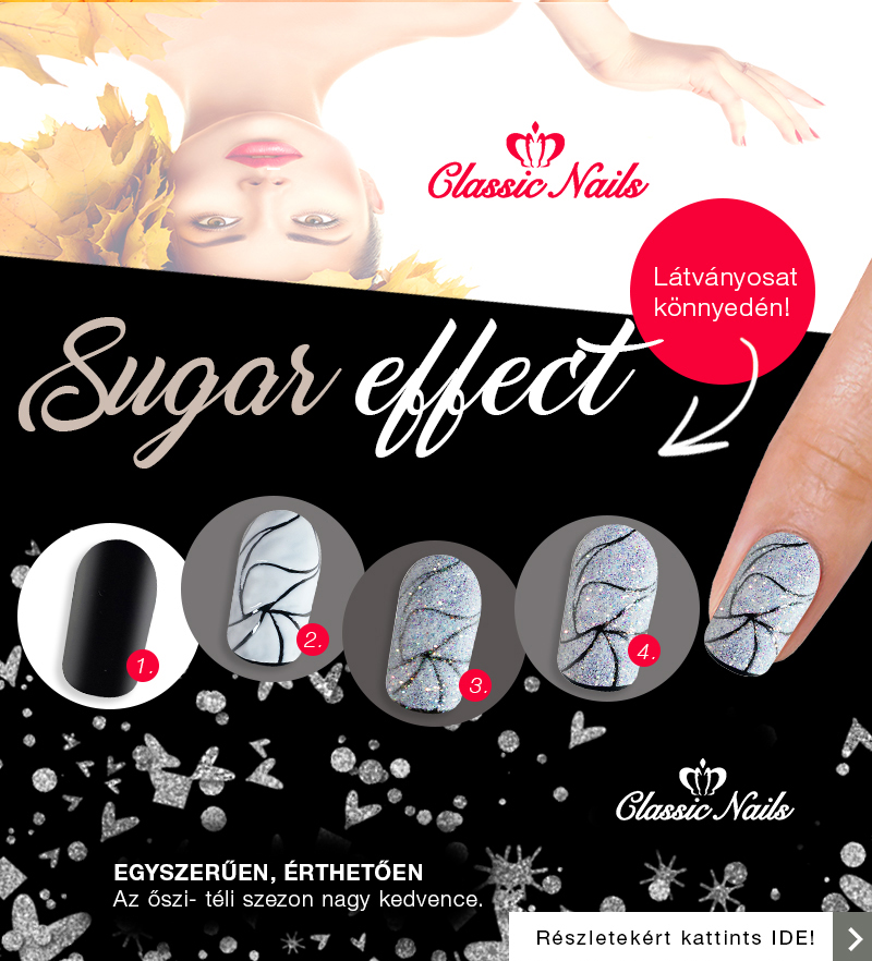 Classic Nails sugar effect