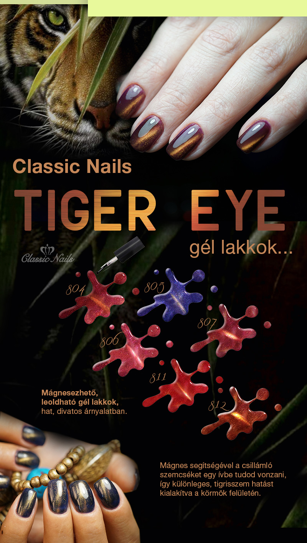 Tiger Eye gél lakkok