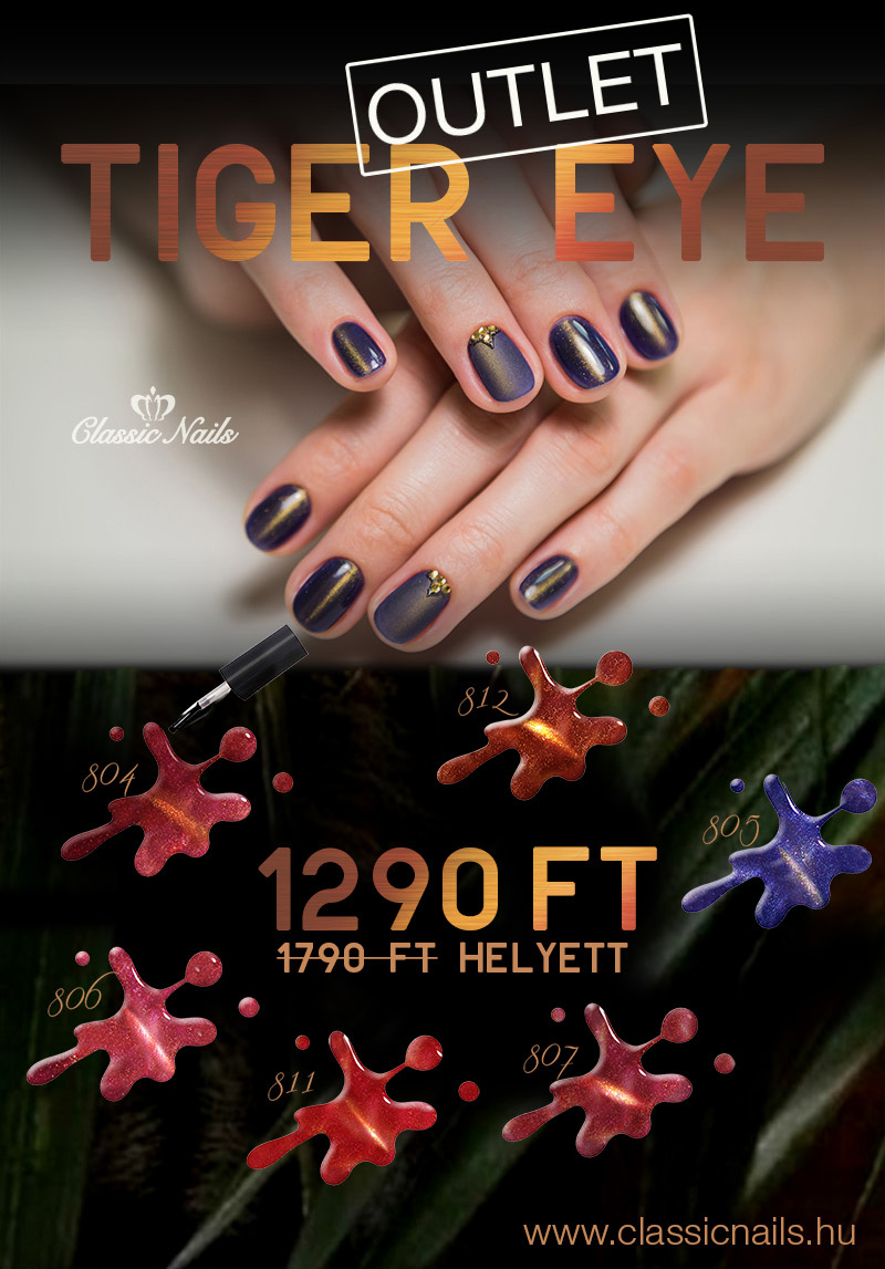 Tiger Eye gél lakk outlet