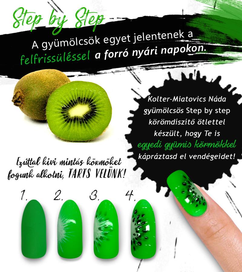 Gyümölcs mintás körmök SBS