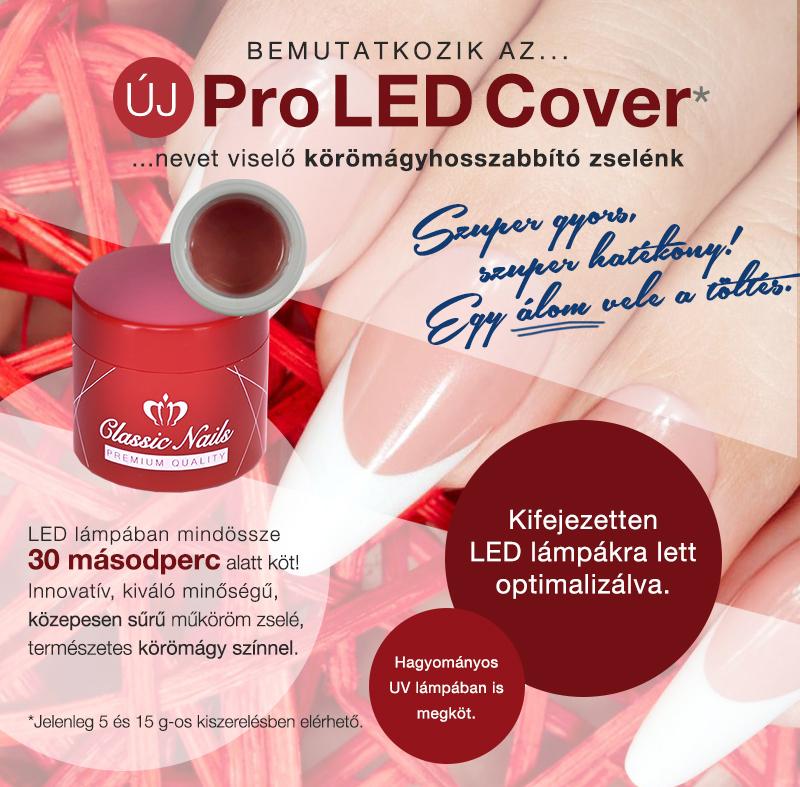 LED Cover körömágyhosszabbító zselé