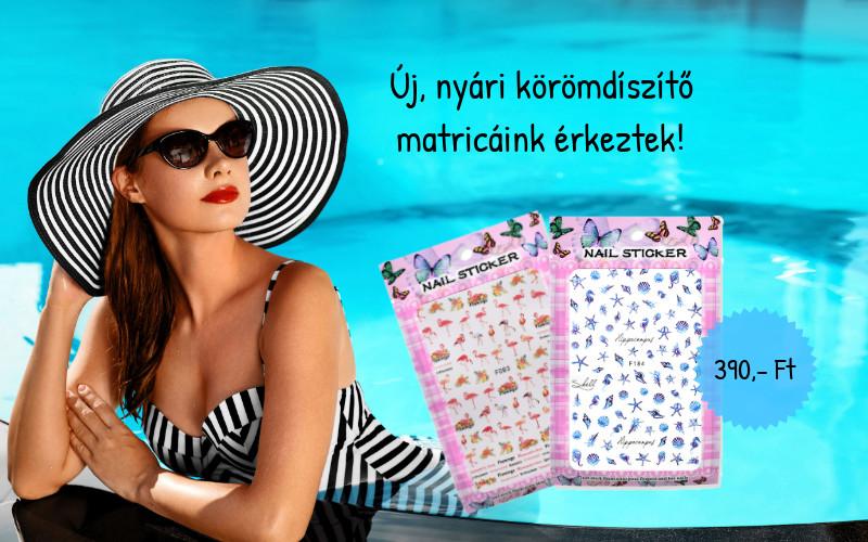 Új, nyári köröm matricák